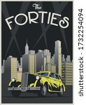 1940s Poster Of Retro Car ...