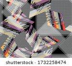 seamless pattern. contemporary... | Shutterstock . vector #1732258474