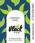 template of packaging black tea ...   Shutterstock .eps vector #1732300384