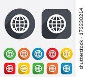 globe sign icon. world symbol.... | Shutterstock .eps vector #173230214