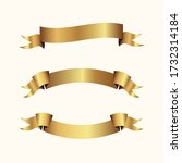 set of golden ribbons vector. | Shutterstock .eps vector #1732314184