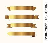 set of golden ribbons vector. | Shutterstock .eps vector #1732314187