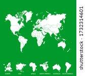 world map color vector modern | Shutterstock .eps vector #1732314601