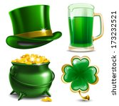 set of st. patrick's day... | Shutterstock .eps vector #173232521