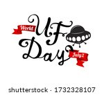 world ufo day. july 2. flying... | Shutterstock .eps vector #1732328107