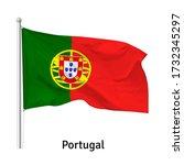 flag of the portuguese republic ... | Shutterstock .eps vector #1732345297