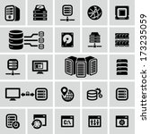 server icons | Shutterstock .eps vector #173235059