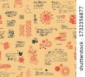 vector seamless pattern on the... | Shutterstock .eps vector #1732356877