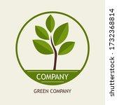 logo of a tree. illustration... | Shutterstock .eps vector #1732368814