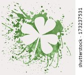 vector illustration of shamrock ... | Shutterstock .eps vector #173237531