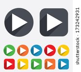 arrow sign icon. next button....   Shutterstock .eps vector #173242931