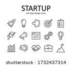 set of startup vector icons....