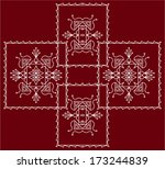 folk  tribal design  motif ... | Shutterstock .eps vector #173244839
