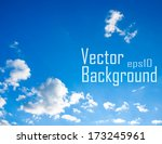 vector sky. blue sky with cloud ... | Shutterstock .eps vector #173245961