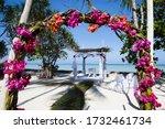 Destination Wedding On A White...