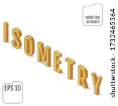 the word isometry  written in... | Shutterstock .eps vector #1732465364
