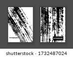 vector black ink brush stroke...   Shutterstock .eps vector #1732487024
