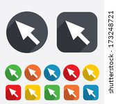 mouse cursor sign icon. pointer ... | Shutterstock .eps vector #173248721