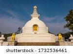 Buddhist Stupa Isolated With...