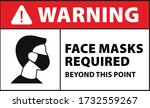 Warning Face Mask Required...