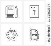 mobile ui line icon set of 4...