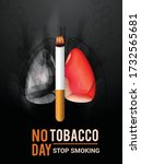 world no tobacco day poster or... | Shutterstock .eps vector #1732565681