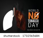 world no tobacco day poster or... | Shutterstock .eps vector #1732565684