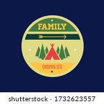 mountain camping logo and...   Shutterstock .eps vector #1732623557