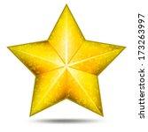 grunge star icon | Shutterstock .eps vector #173263997