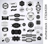 set of vintage retro labels | Shutterstock .eps vector #173264204