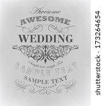 calligraphic design elements | Shutterstock .eps vector #173264654