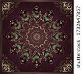 vintage background mandala card ... | Shutterstock .eps vector #1732647857