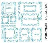 vector set of calligraphic... | Shutterstock .eps vector #1732660121