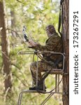 Bow Hunter In A Ladder Style...