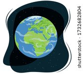 vector illustration of planet... | Shutterstock .eps vector #1732682804