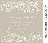 wedding invitation card | Shutterstock .eps vector #173272709