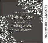 wedding invitation card | Shutterstock .eps vector #173272781
