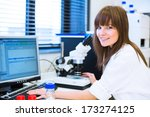 portrait of a female researcher ... | Shutterstock . vector #173274125
