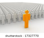 silhouettes of people. 3d | Shutterstock . vector #17327770
