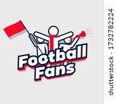 football fans cheering team.... | Shutterstock .eps vector #1732782224