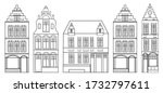 Set Of European Houses In The...
