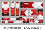 set of creative web banners of... | Shutterstock .eps vector #1732800287