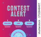 modern contest alert template...   Shutterstock .eps vector #1732848497