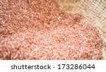 brown raw rice agricultural... | Shutterstock . vector #173286044