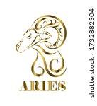 golden line vector logo of... | Shutterstock .eps vector #1732882304
