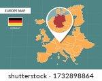 germany map in europe zoom...   Shutterstock .eps vector #1732898864