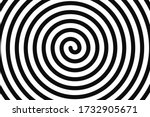 concentric hypnotic spiral.... | Shutterstock .eps vector #1732905671