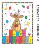 happy birthday  deer. birthday... | Shutterstock . vector #173290871