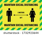 maintain social distancing 2... | Shutterstock .eps vector #1732923644
