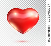 red heart isolated on... | Shutterstock .eps vector #1732953737